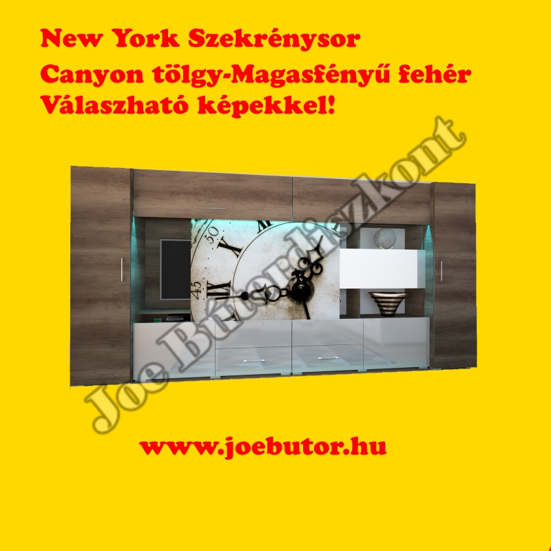 New York Szekrénysor 400cm