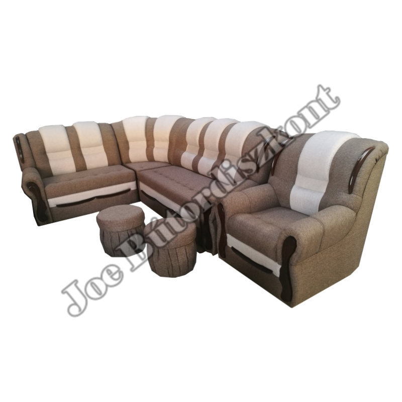 Baron sarok ülőgarnitúra fotellel és puffokkal