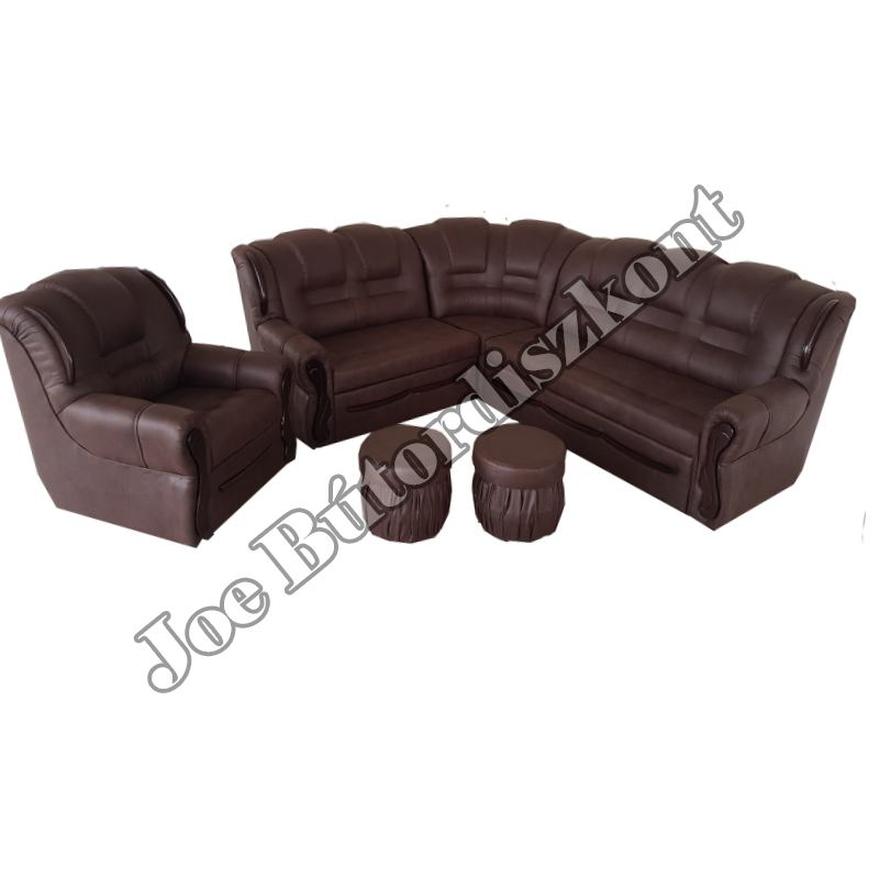 Sarok ülőgarnitúrák - Baron sarok ülőgarnitúra fotellel és puffokkal