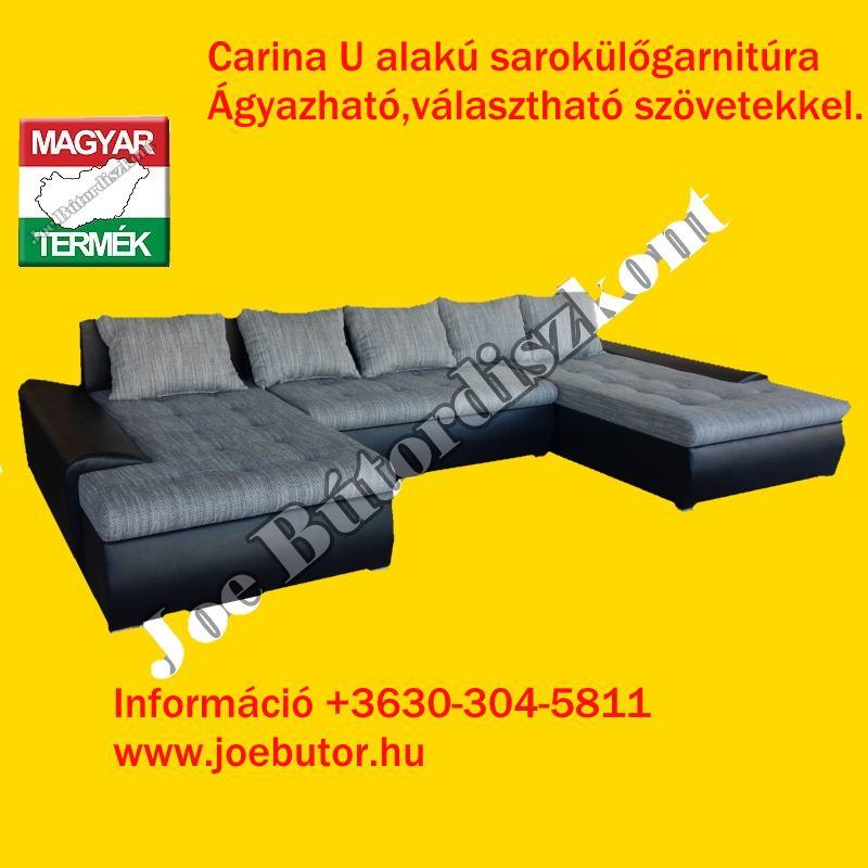 Carina U alakú sarok ülőgarnitúra