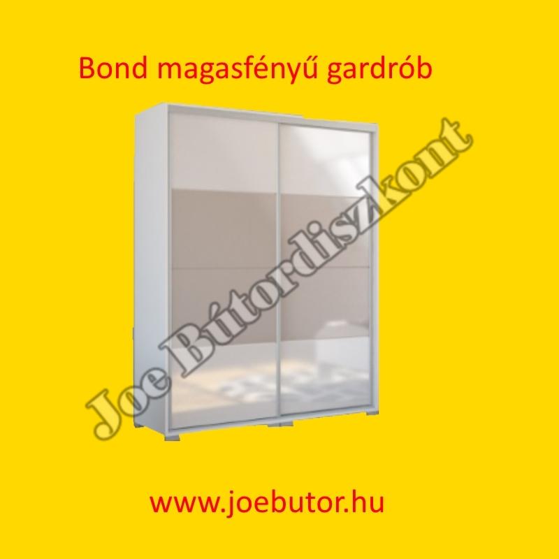 Bond magasfényű tolóajtós gardrób 160 cm