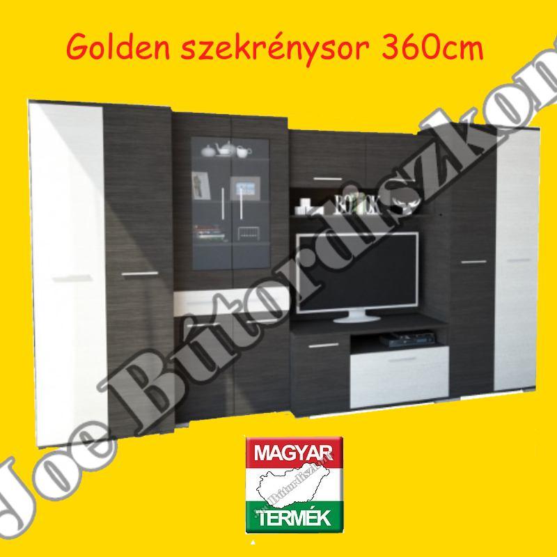 Golden 360cm szekrénysor