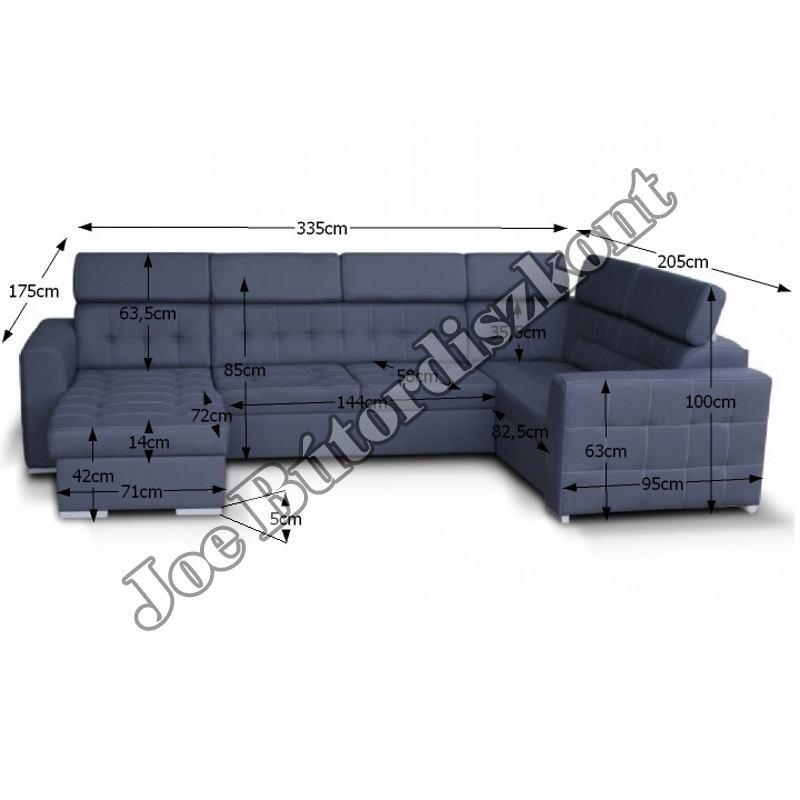 Kazara U alakú sarok ülőgarnitúra