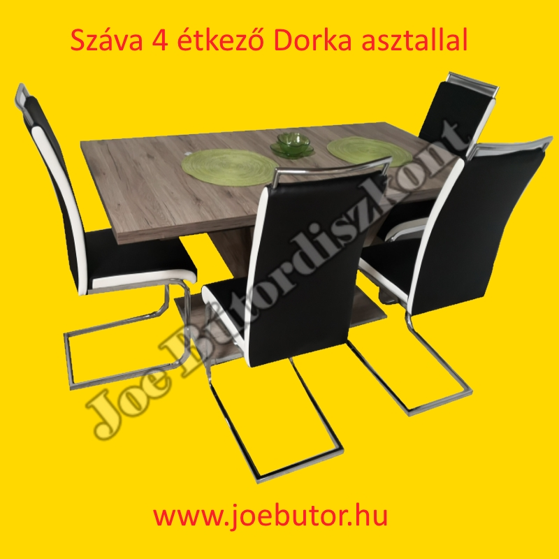 Boris 4 étkező kicsi Flóra asztallal